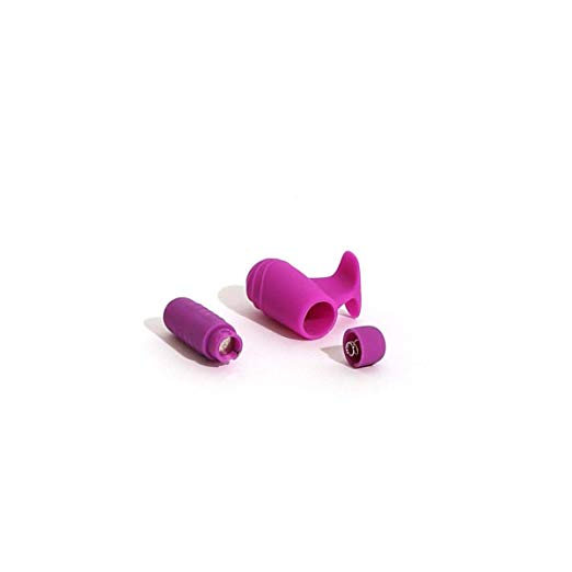 Purple Bteased Basic Finger Vibe battery slot with two LR44 batteries